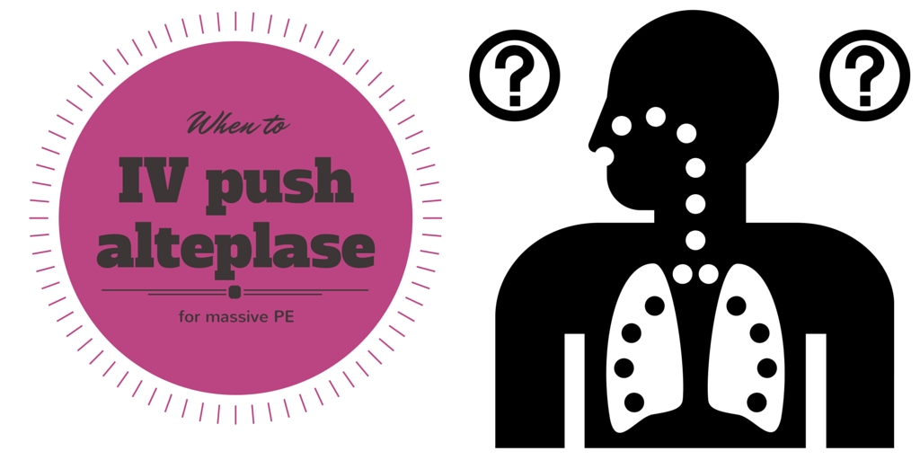 17: When to IV push alteplase for massive PE